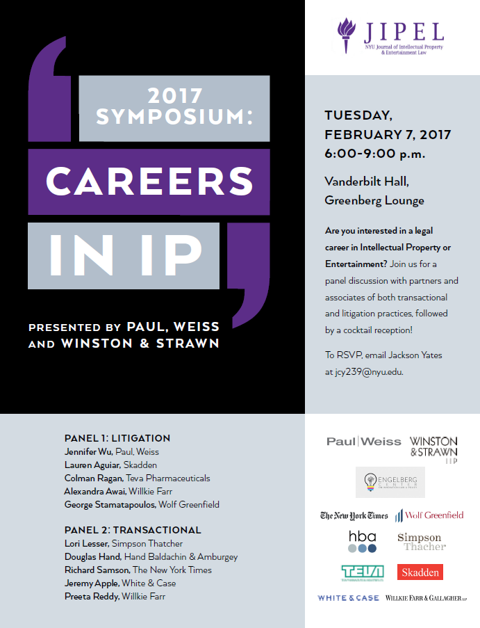 2016-17 JIPEL Symposium Flyer